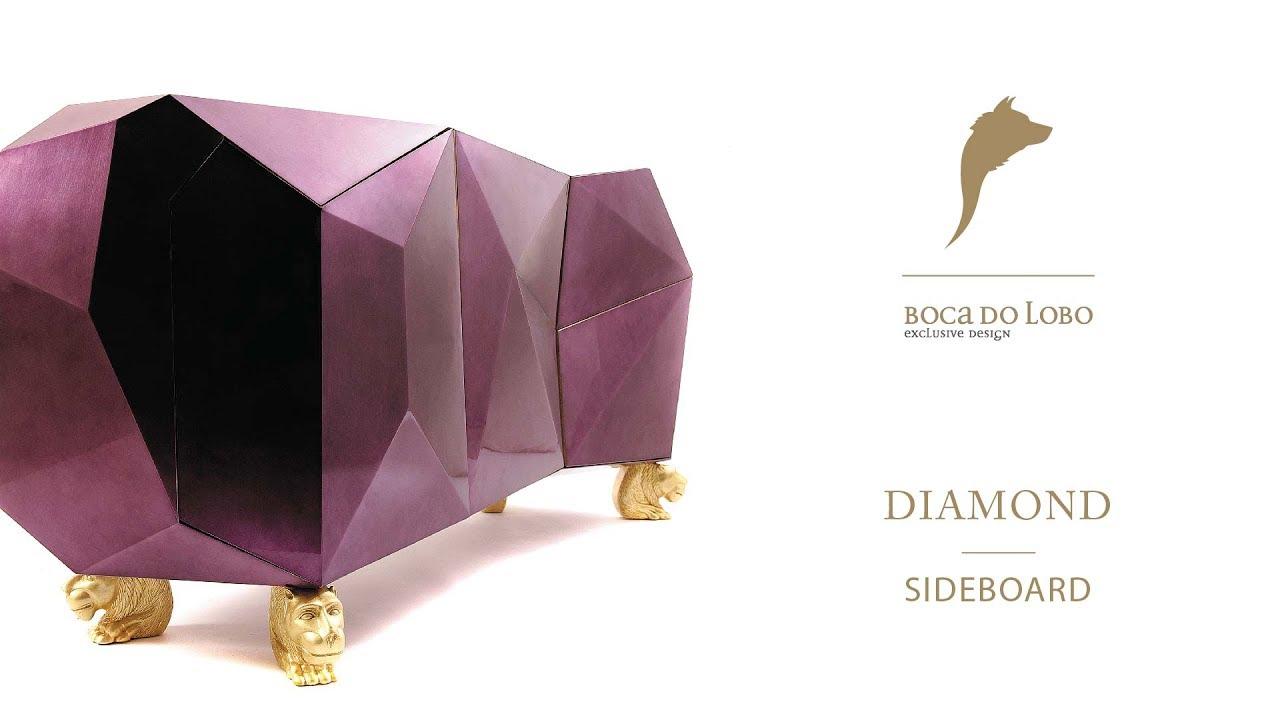 The Diamond Sideboard by Boca do Lobo - YouTube