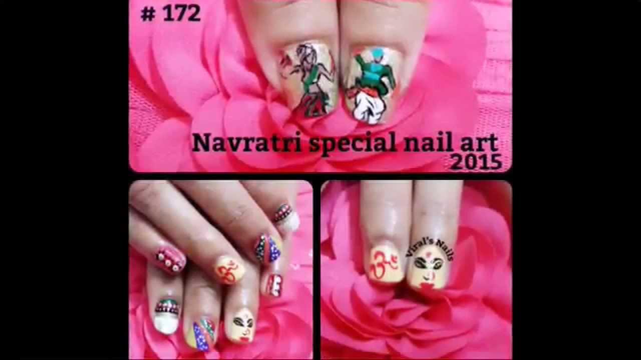 Navratri Special Nail Art Youtube