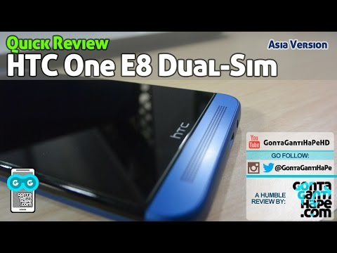 Review HTC One E8 Blue (Asia Version) - Indonesia [GontaGantiHape.com]