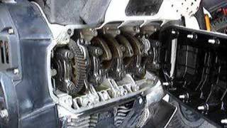 K100RS with crank cover off Running