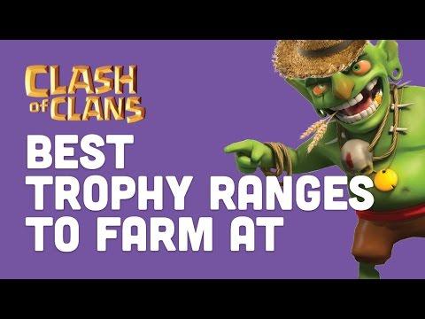 Clash of Clans - Best Trophy Range for Farming