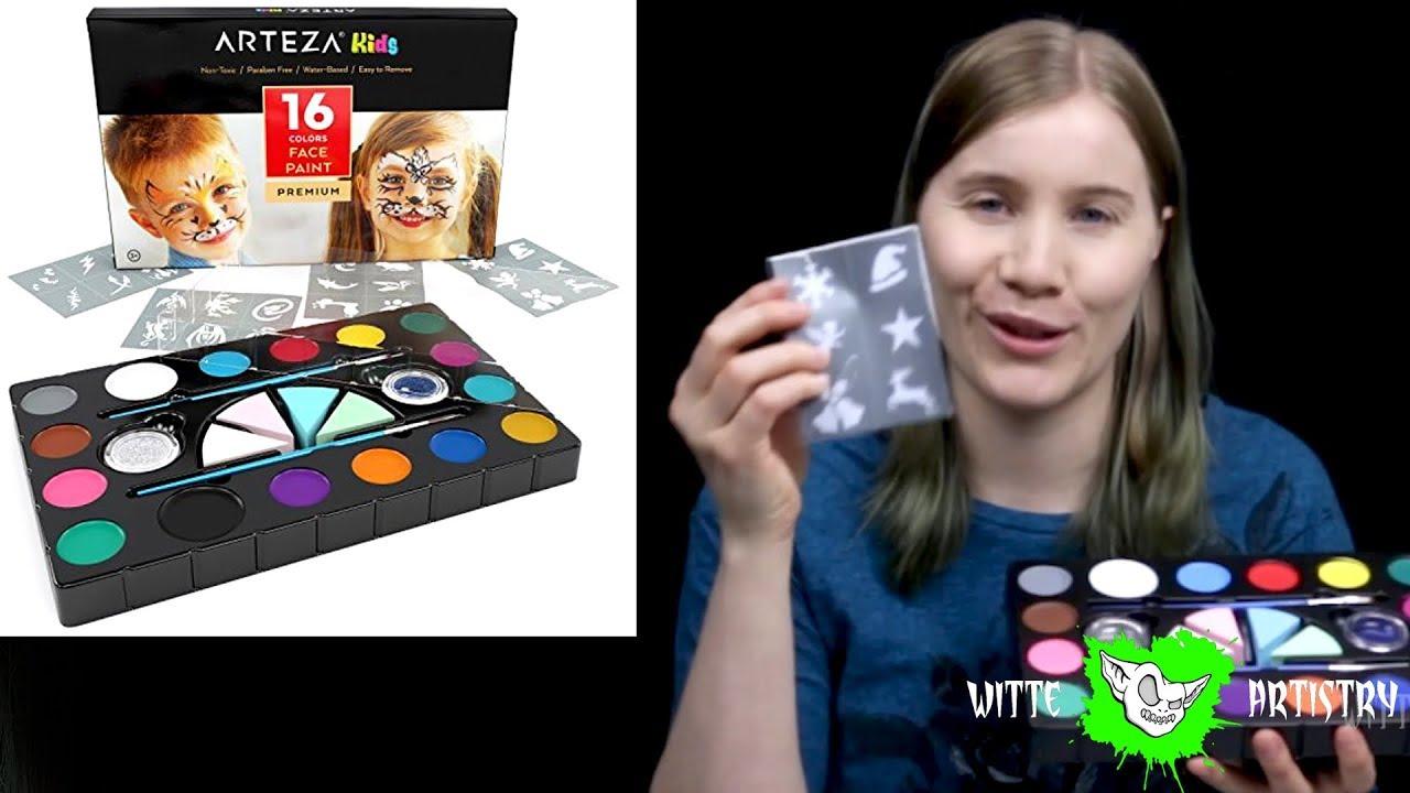 Affordable Face Paints Review Arteza Kids Face Paint 16 Colors