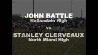 DOLOCAM - John Battle DB Hallandale vs Stanley Clerveaux WR North Miami