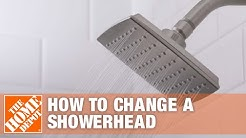 How to Replace a Showerhead – Installing a Showerhead | The Home Depot