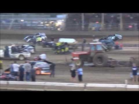 TERRY BROWN  RACING 18B MODIFIED HEAT RACE  AUGUST 18, 2017 BELLE-CLAIR  SPEEDWAY