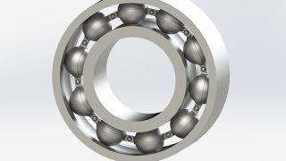Solidworks Rulman Çizimi-Montajı (Ball Bearing)