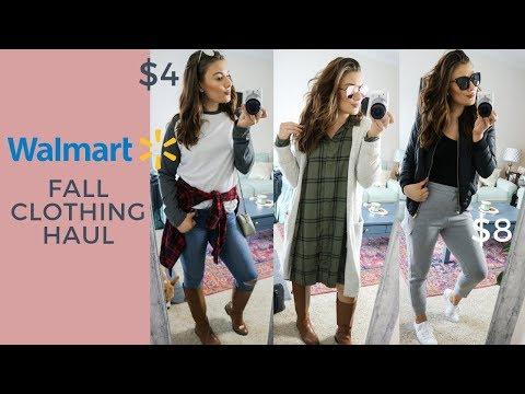 472386e96f415 WALMART FALL FASHION TRY-ON HAUL 2018 - YouTube