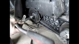 tuto debridage scooter, demontage/remontage vario embrayage (ressort embrayge/pousser) chgmt gicleur