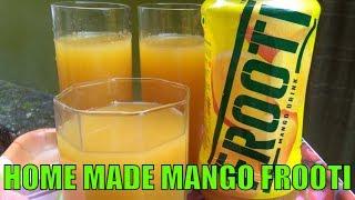 Mango Fruity Recipe - How To make Mango Frooti at Home - Fresh Mango Juice