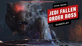 Star Wars: Jedi Fallen Order - Gorgara Boss Fight Gameplay on the Hardest Difficulty