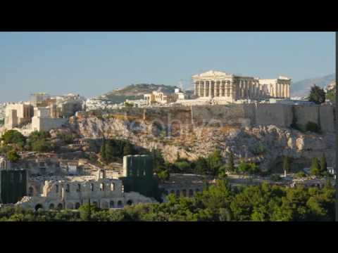 Travel View of Acropolis in Athens, Greece - Stock Footage | VideoHive 14384477