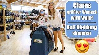 Clara darf reiten 🐴 Mädchentraum wird wahr! Pferde & Pony Reitklamotten Shopping Haul | Mamiseelen