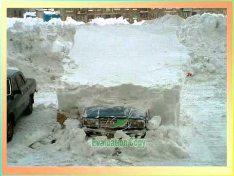 WINTER IN RUSSIA : SNOW EVERYWHERE !