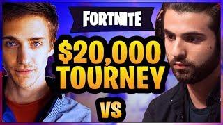 Ninja vs SypherPK - $20,000 2v2 ft. NICKMERCS and KingRichard (Fortnite Battle Royale)