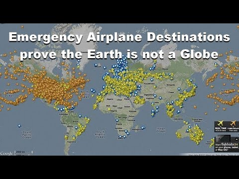 Emergency Airplane Destinations prove the Earth is not a Globe