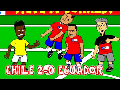 🏆CHILE vs ECUADOR 2-0 Vidal Penalty🏆 (COPA AMERICA 2015 parody cartoon)