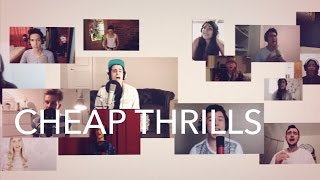 Repeat youtube video 2000 Voices Sing - Cheap Thrills - Sia  [Acapella]
