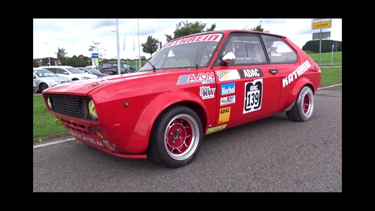 fiat 128 coupe slalom car germany youtube. Black Bedroom Furniture Sets. Home Design Ideas