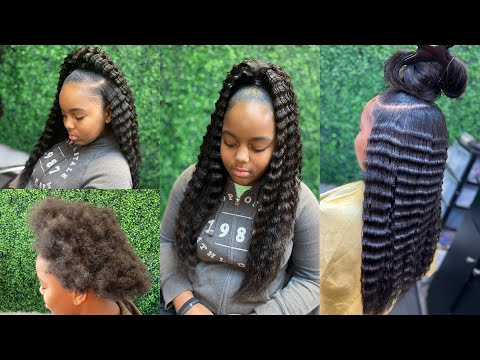 how-to-do-a-glueless-up-down-crimped-ponytail-on-natural-hair