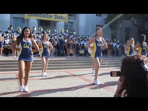 Cal Band Sproul Hall Rally vs. USC 2013 Berkeley California (New Millennium Radio Jams Show)