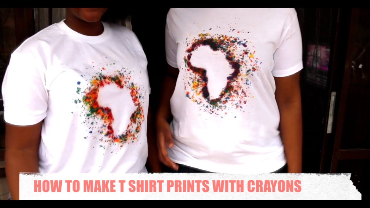 How To Make T shirt Prints with Crayons - YouTube