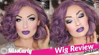 ✨Lace Front WIG REVIEW! ✨ LucyHairWig | 💜Pastel Purple💜 | AMAZON | WOW! $38!!!