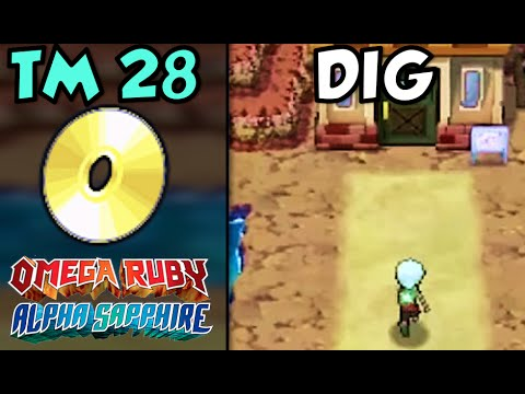 Where/How to Find TM 28: Dig | Pokemon Omega Ruby and Alpha Sapphire