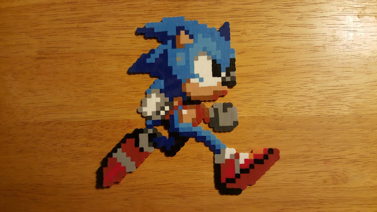 Sonic Sonic The Hedgehog 2 Perler Bead Time Lapse Youtube
