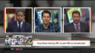 WILL CAIN GETS OWNED! ABOUT TONY ROMO ESPN FIRST TAKE 4/5/17