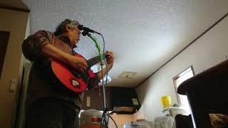 ワダツミの木 ( falsetto 裏声 ファルセット 上田 現 ) cover, midi-guitar: YAMAHA EZ-AG amp: Roland cube street mic: audio_technica AT-VD6.