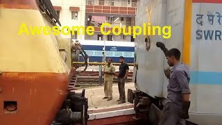 Indian Railways Chennai Bangalore Shatabdi Link WAP1 22058 RPM : Awesome Coupling Sequence to Coach