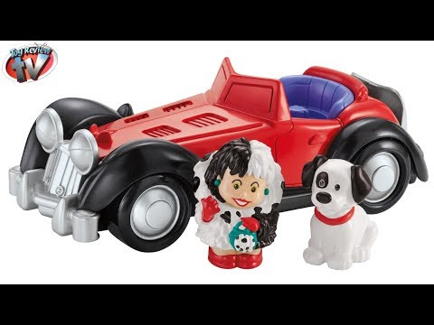 little-people-disney-101-dalmations:-cruella-de-vil-playset-toy-review,-fisher-price