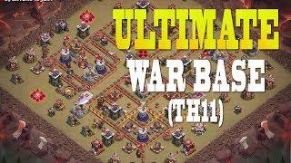 ULTIMATE WAR BASE TH11 (2018) | Best TH11 Base Design in Clash of Clans | Anti 3 Star, CWL Invite