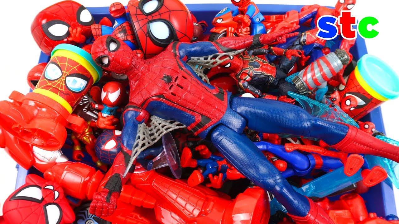 Download Caja Gigante de Juguetes de Spiderman El Hombre Araña Coleccion de Juguetes
