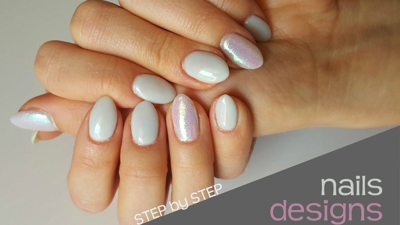 Hybrid Nails Zdobienie Paznokci Hybrydowych Pylek Efekt