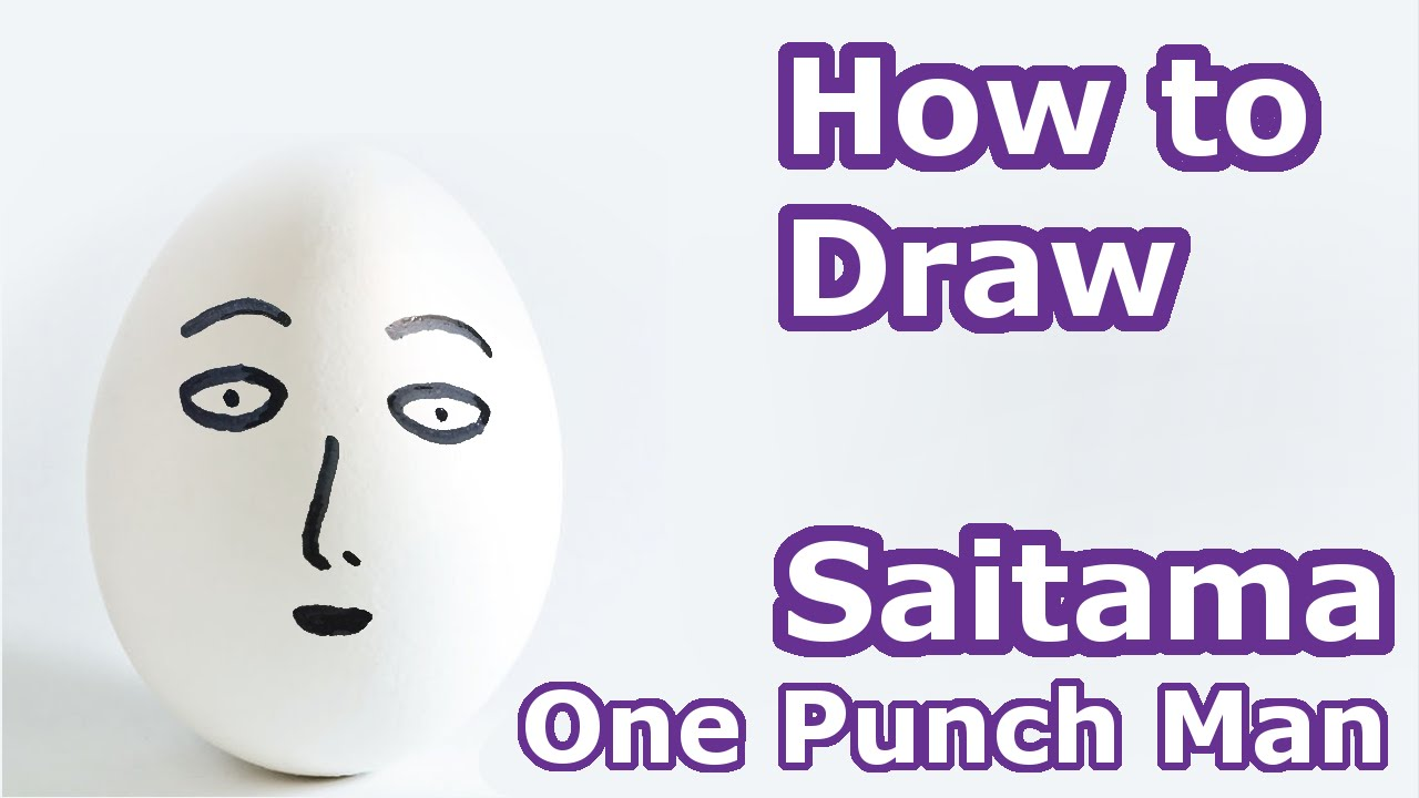 How to Draw: Saitama from One Punch Man Anime - Simple Tutorial