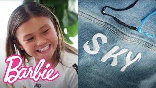 @Barbie  DIY JeanDenim Jacket Tutorial with Sky Brown!