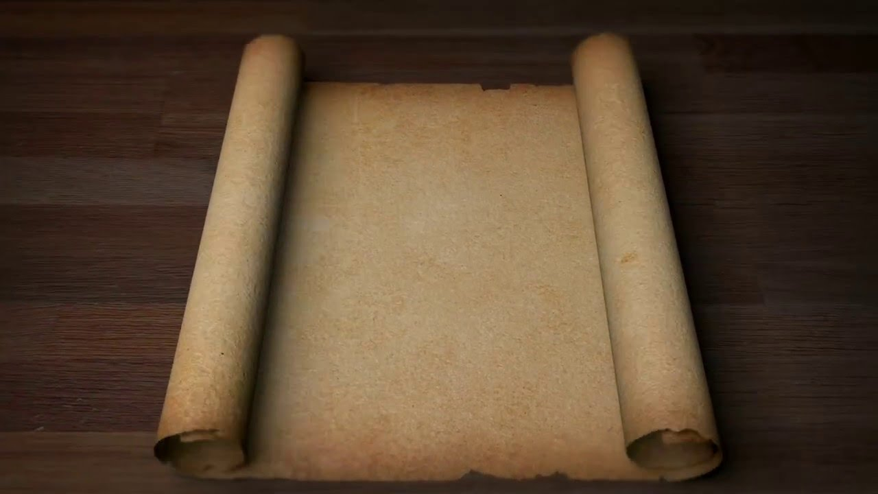 old scroll parchment blank youtube