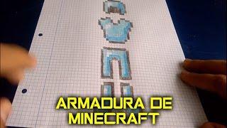 Como dibujar Armadura de Minecraft en Pixel Art | 8 Bits