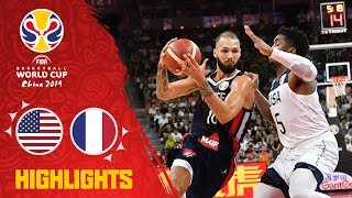 USA v France - Full Game Highlights - Quarter-Final - FIBA Basketball World Cup 2019