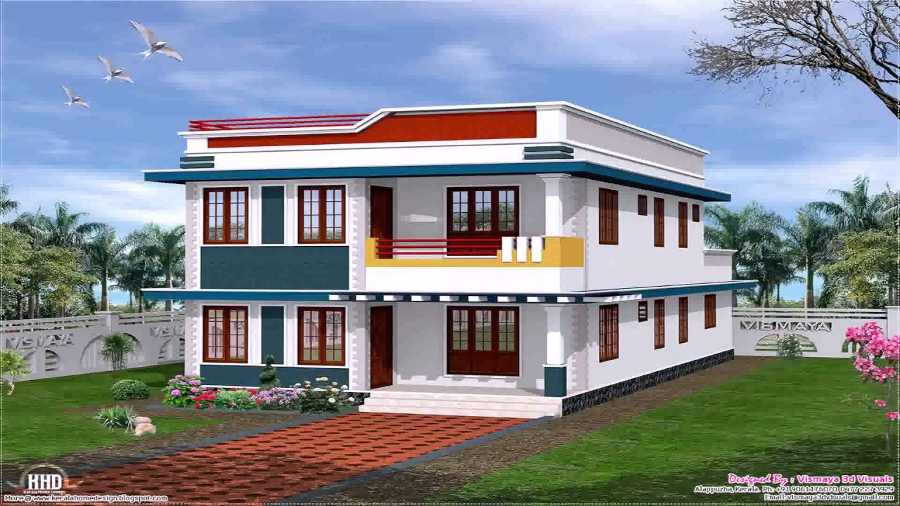 House designs indian style front youtube for House plan in india free design