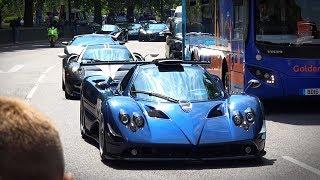 London Hypercars Chaos June 2018 - Apoll IE, 7x Pagani, Agera, Veyron SS, Enzo