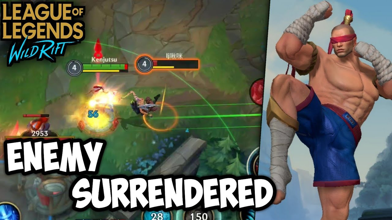 HOW TO MAKE ENEMY TEAM SURRENDERED WITH LEE SIN | LOL WILD RIFT