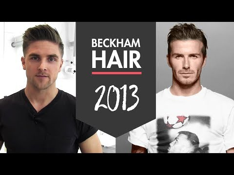 David Beckham H&M 2013 men's hairstyle - how to style inspiration - By Vilain hair products Travel Video