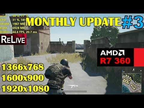 R7 360 | PlayerUnknown's Battlegrounds - Monthly Update 3