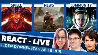 Das neue Diablo, Gameplay-Loops und EURE Themen im Talk - React Live
