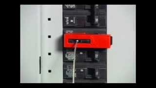 EZ Panel LocTM   Clamp on Breaker Lockout