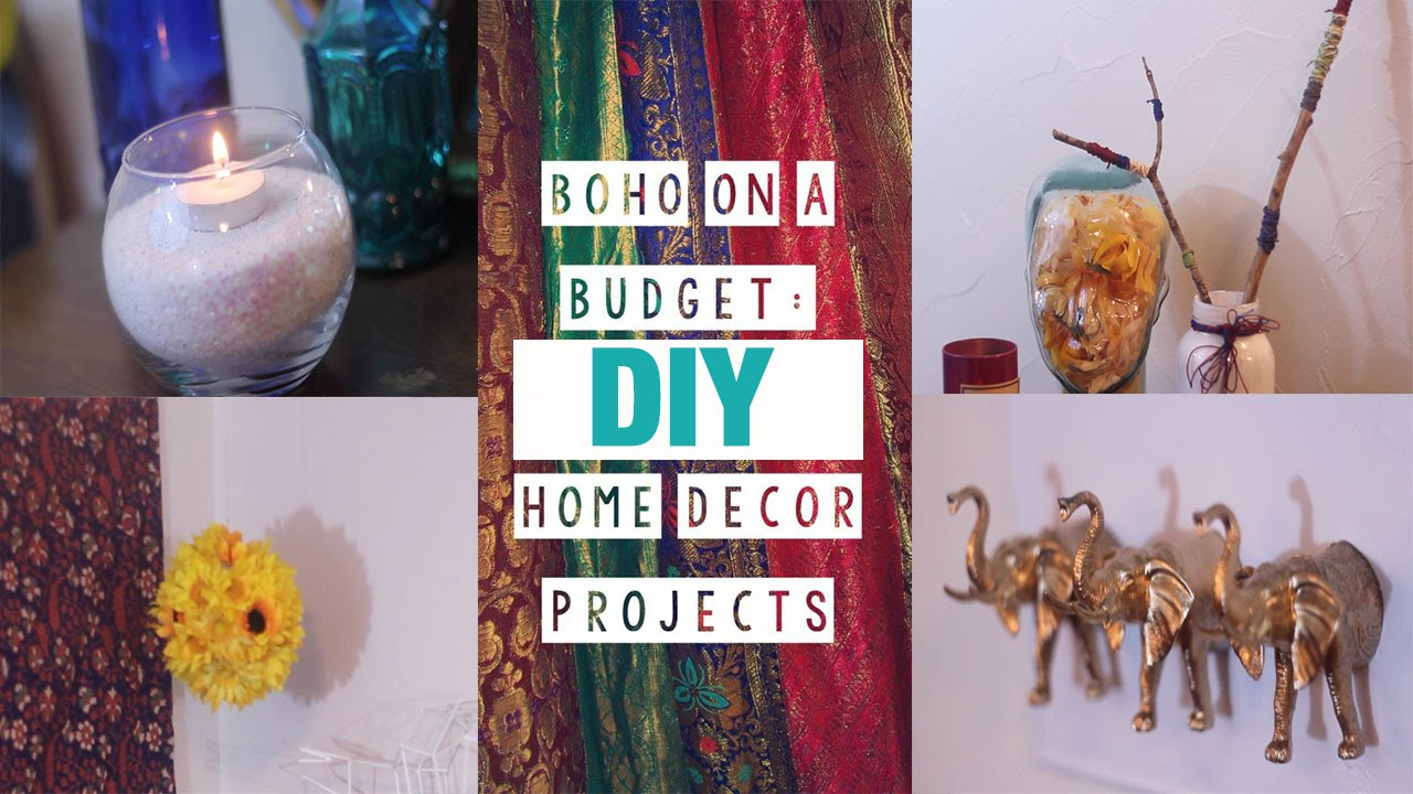 5 Boho-Chic Easy Room Decor DIYs  - YouTube