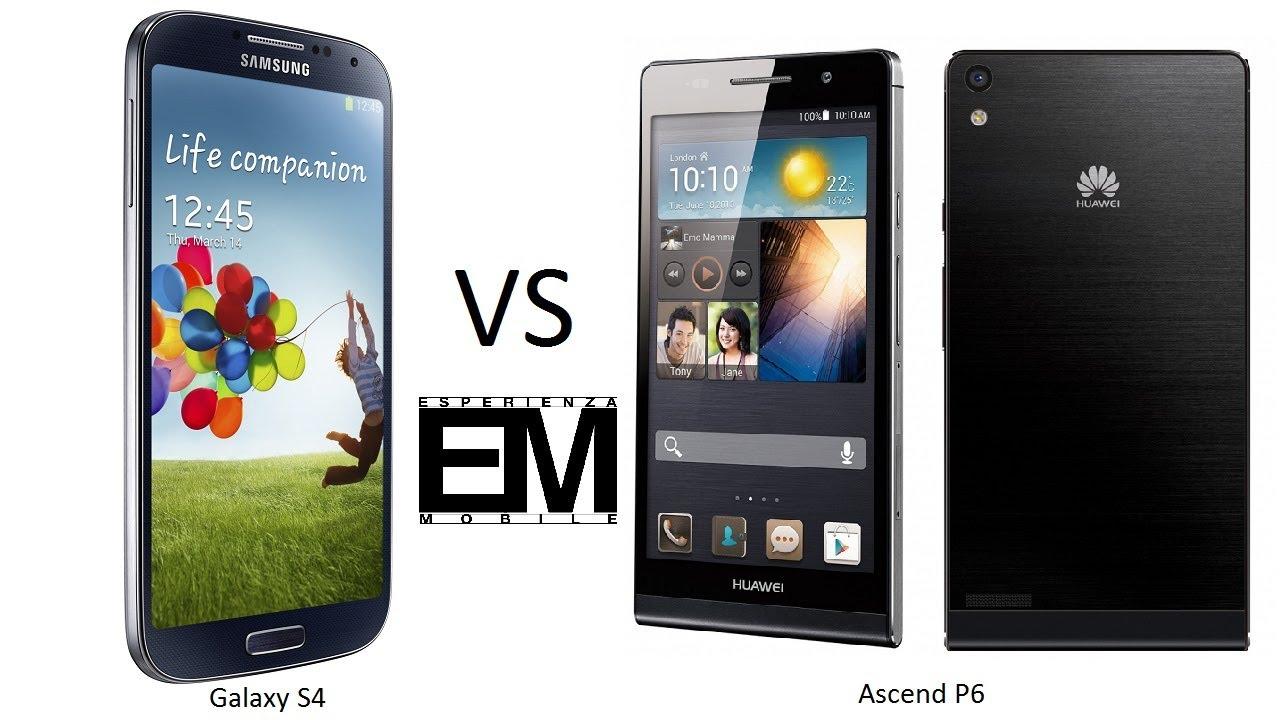 Huawei Ascend P6 vs Samsung Galaxy S4 ita da ...