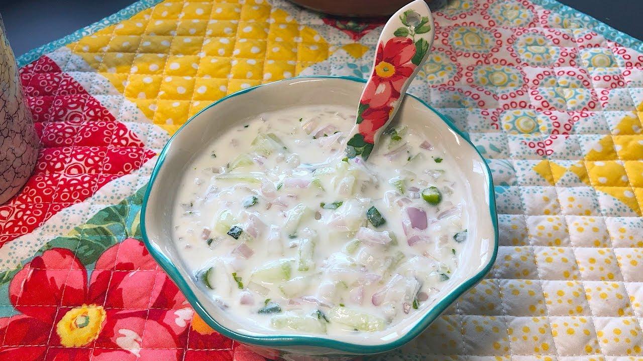 Onion Cucumber Raita | Raita recipe | Quick raita for biryani and pulao |  Crafts and kitchen| - YouTube